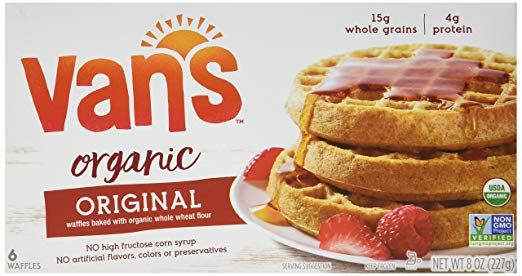 Vans Whole Grain Organic Waffles