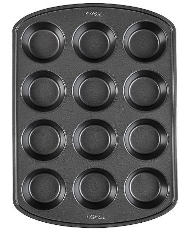 Wilton Perfect Results Premium Non-Stick Bakeware Muffin and Cupcake Pan, 12-Cup, STANDARD, Silver